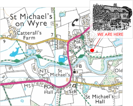 CLICK FOR INTERACTIVE MAP -- Wyreside Farm Caravan Park, Allotment Ln, St Michael's on Wyre, Preston, Lancashire, PR3 0TZ.